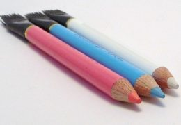Kleermakers krijt potlood met borstel 17 cm div kleuren